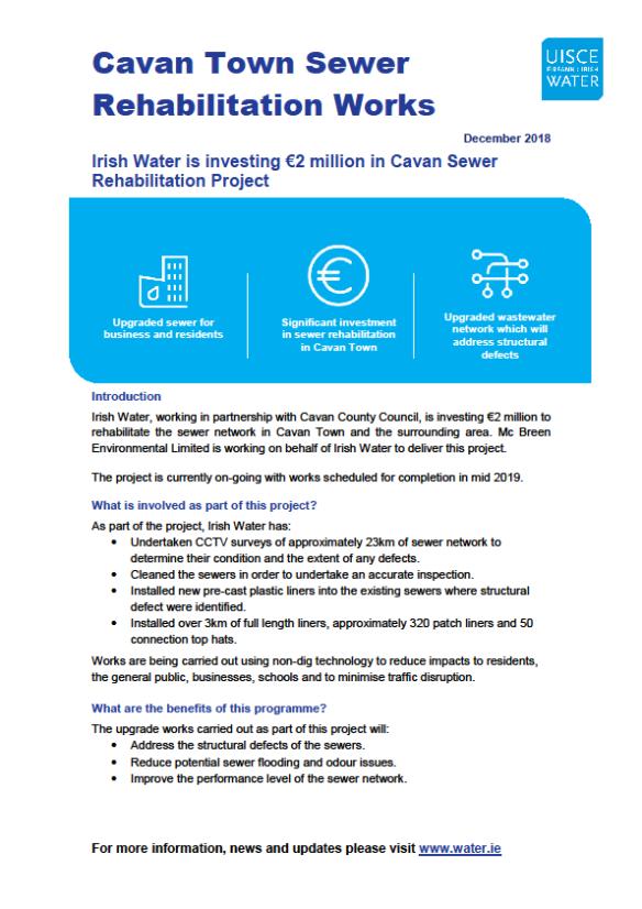 Cavan Town Sewer update